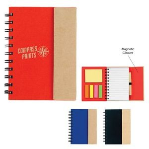 Small Spiral Notebook With Sticky Notes And Flags
